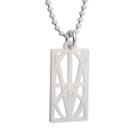 Picture of Men's White Acrylic Pendant