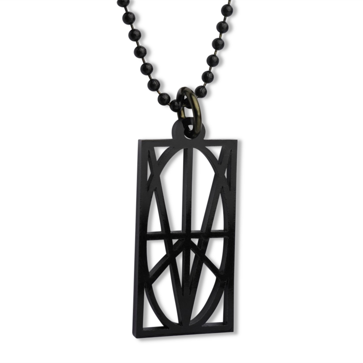 Picture of Women's Black Acrylic Pendant