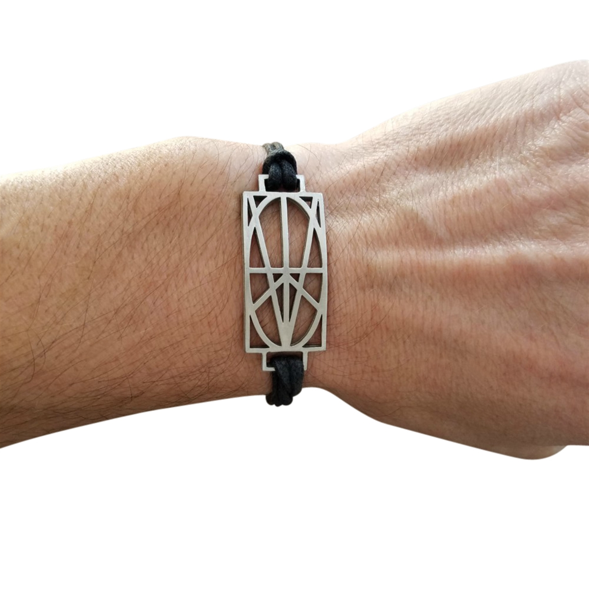 Picture of Men's Wrap & Tuck Bracelet - Black