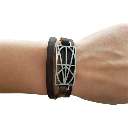 Picture of Women's Brown Leather Wrap Bracelet