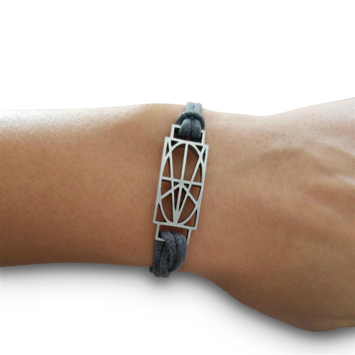 Picture of Women's Gray Wrap & Tuck Bracelet - Small Zymbol